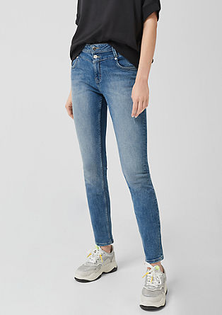 Catie Slim: Jeans with a garment-washed effect from s.Oliver