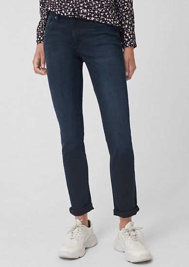 Catie Slim: Dark Blue-Jeans