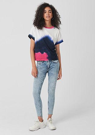 Catie Ankle: 7/8-Jeans mit Nieten