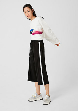 Sporty culottes made of sweatshirt fabric from s.Oliver