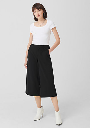 Twill culottes from s.Oliver