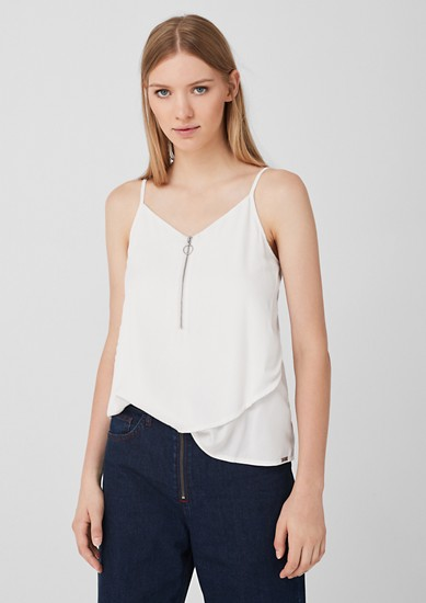 Layered top with zip from s.Oliver