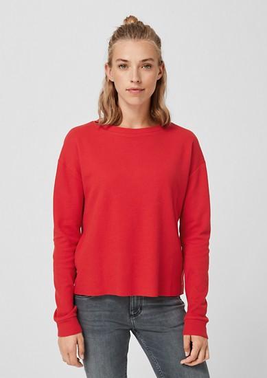 Tričko s dlouhým rukávem z vaflového piké