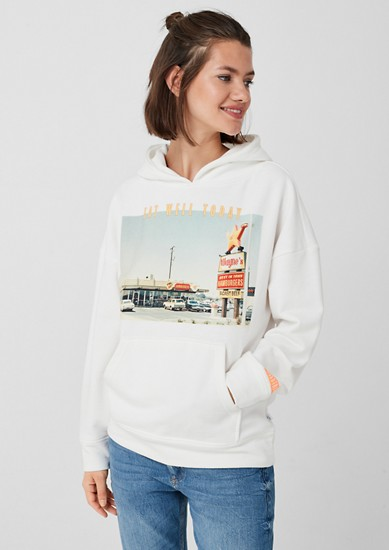 Hoodie with a photo print from s.Oliver