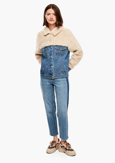 Veste en jean agrémentée de peluche de s.Oliver