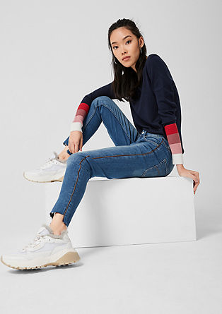 Sadie Superskinny: Jeans with a zip from s.Oliver
