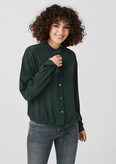 Viscose blouse in a bomber jacket style from s.Oliver