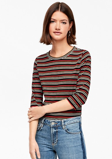 Striped T-shirt with 3/4-length sleeves from s.Oliver