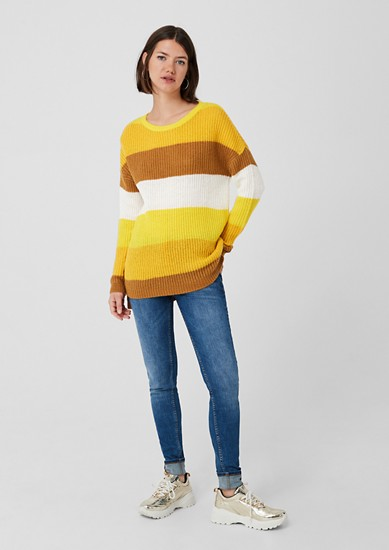 Oversize Pullover mit Colourblocking