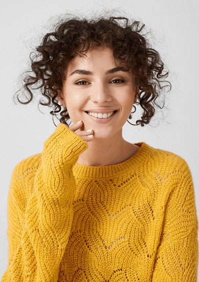 Strickpullover mit Ajour-Muster