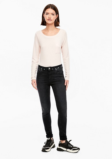 Reena Slim: High Waist-Stretchjeans
