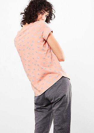 Shirt mit Metallic-Muster