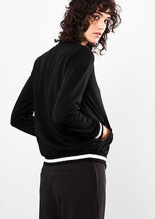 Jersey bomber jacket blazer from s.Oliver