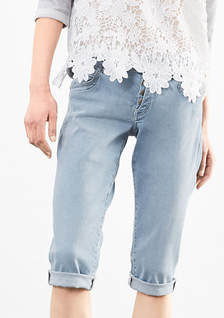 Catie Slim: Pale Capri jeans from s.Oliver