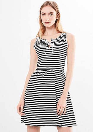 Striped dress with lacing from s.Oliver