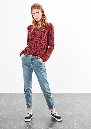Megan Girlfriend: Jeans hlače obrabljenega videza