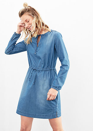 Lightweight denim dress with a tie from s.Oliver