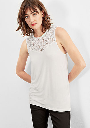 Top with lace yoke from s.Oliver