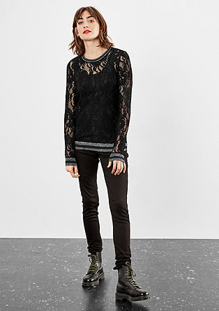Floral lace sweatshirt from s.Oliver