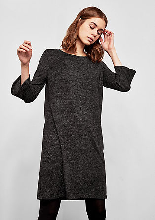 Sparkling dress with 3/4-length sleeves from s.Oliver