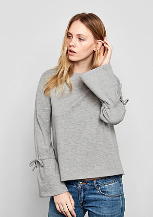 Sweatshirt with trumpet sleeves from s.Oliver