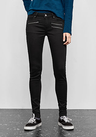 Sadie Superskinny: trousers with zips from s.Oliver