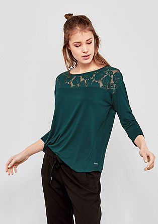 Top with a lace insert from s.Oliver