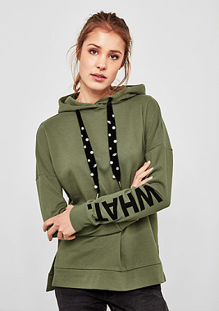 Oversized sweatshirt with decorative ties from s.Oliver