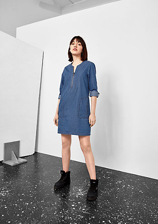Denim dress with zip from s.Oliver
