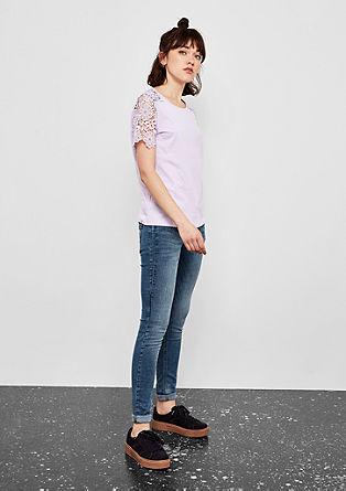 T-shirt met gehaakte kant
