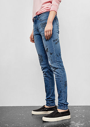 Sadie Superskinny: Bedruckte Denim