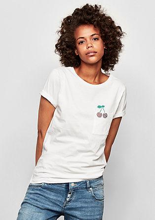 Jersey shirt met klein artwork