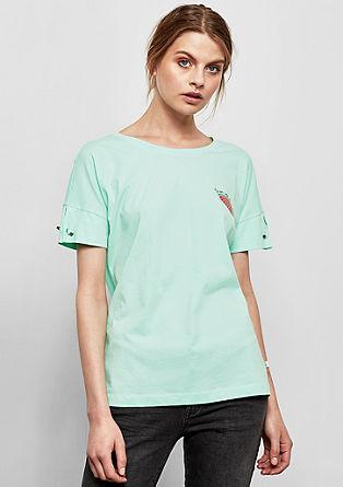 T-Shirt mit Applikation und Print