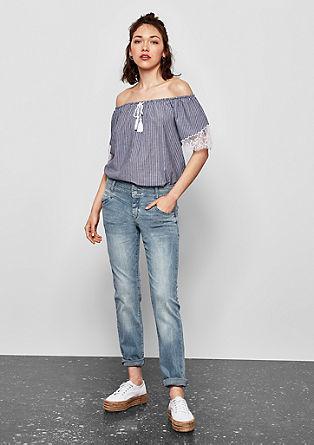 Catie Straight: jeans hlače z dvema gumboma