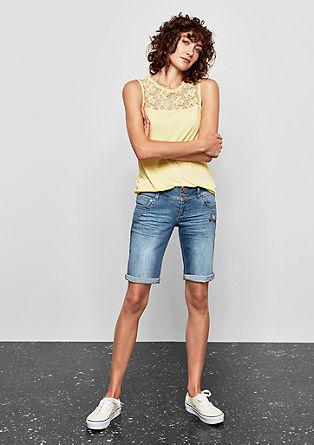 Catie Slim: Bermuda-Jeans