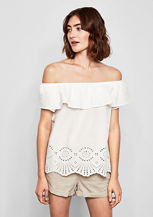 Carmen blouse with broderie anglaise from s.Oliver