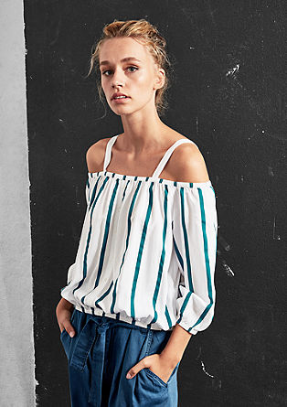 Korte off-shoulder blouse