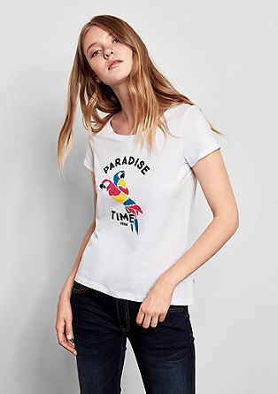 T-shirt met kleurrijke print
