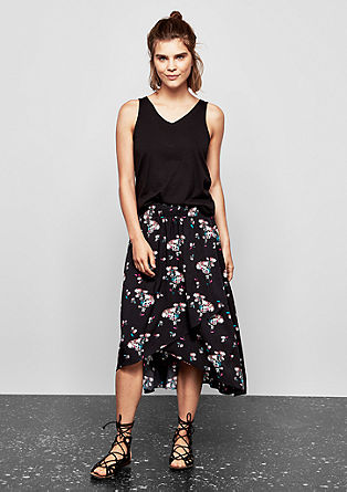 Floral flounce skirt from s.Oliver