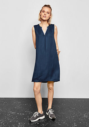Woven dress with a lurex neckline from s.Oliver
