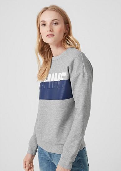 Sweatshirt met print op het voorpand