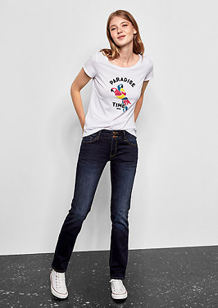 Catie Straight: dark jeans from s.Oliver