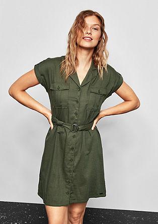 Keprové šaty s kapsami cargo