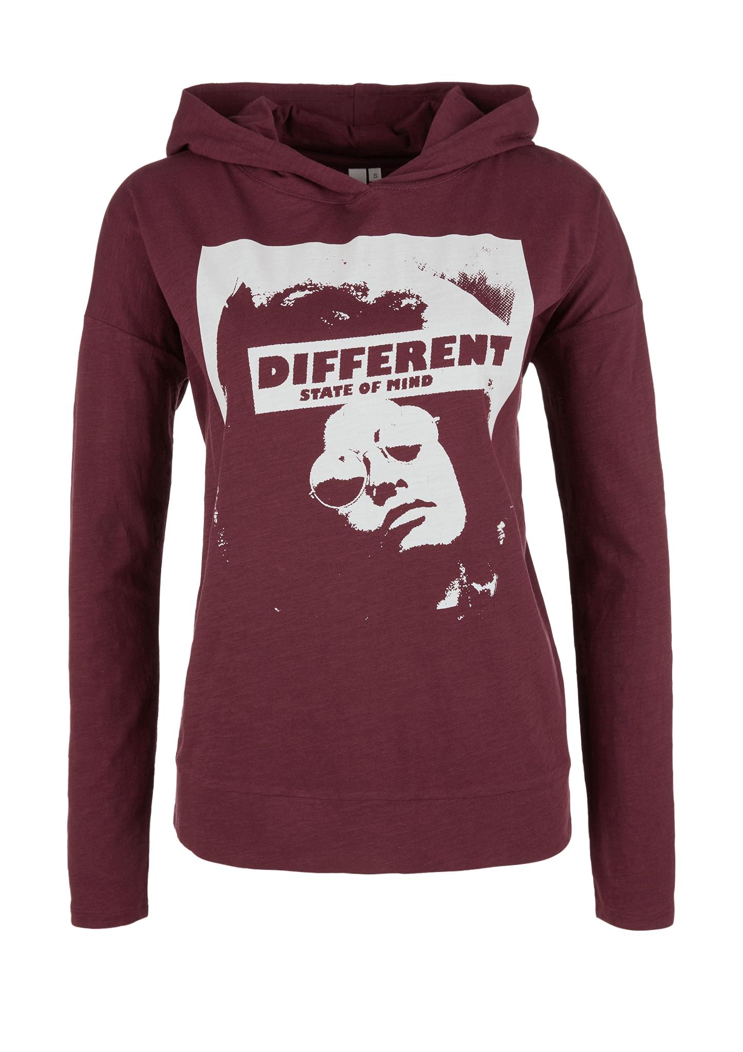 Kapuzenshirt | Bekleidung > Shirts > Kapuzenshirts | Pink | 100% baumwolle | Q/S designed by