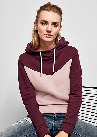 Hoodie im Colour Blocking-Design