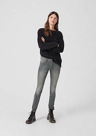 Catie Slim: Graue Stretchjeans