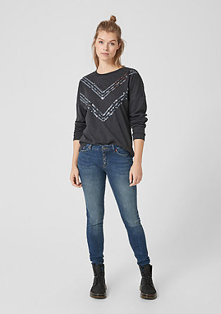 Sadie Superskinny: jeans with a button placket from s.Oliver