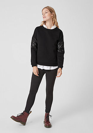Sweatshirt with sequins from s.Oliver