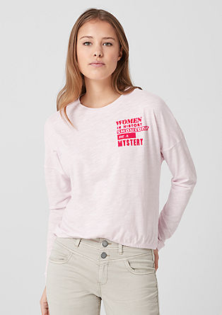 Cropped T-shirt with neon lettering from s.Oliver