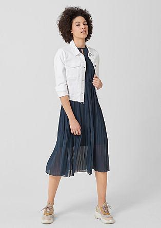 Midi-jurk met plissés